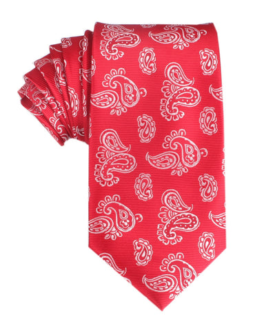 Paisley Red Necktie