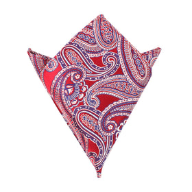 Paisley Red - Pocket Square