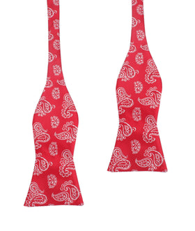 Paisley Red Self Tie Bow Tie
