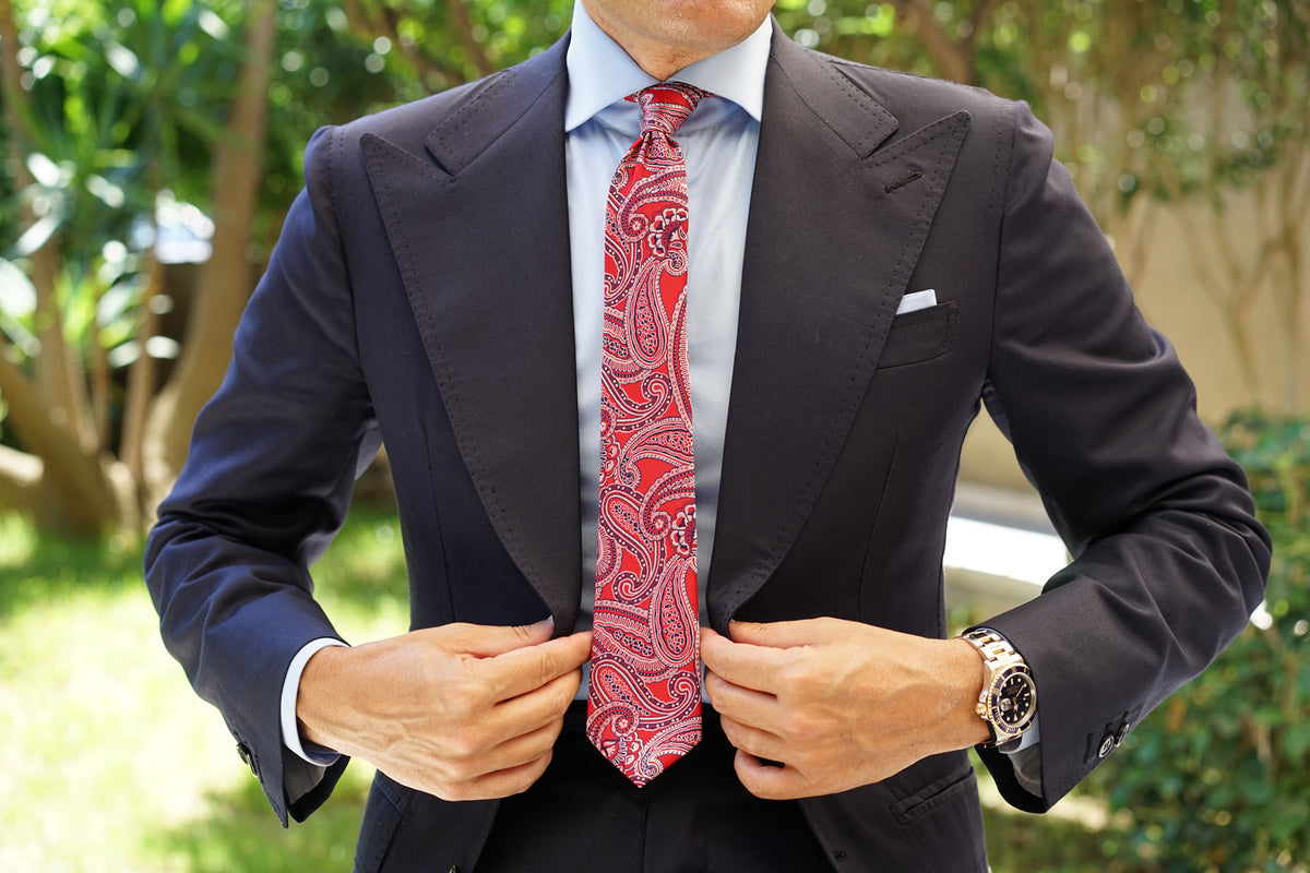 Paisley Red Tie