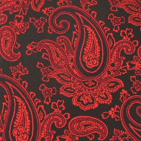 Paisley Red and Black Bow Tie