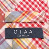 Palid Red Gingham Cotton Polka Dot Necktie OTAA Australia