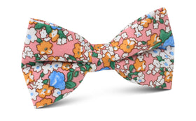 Panama Pink Floral Bow Tie