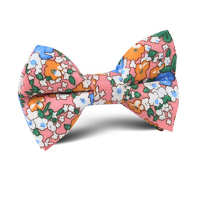 Panama Pink Floral Kids Bow Tie