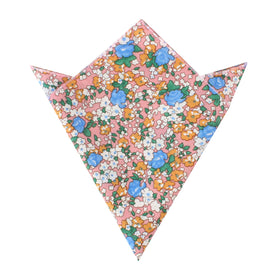 Panama Pink Floral Pocket Square