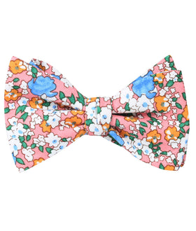Panama Pink Floral Self Bow Tie