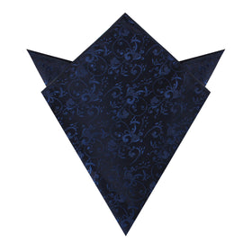Parc Monceau Navy Blue Floral Pocket Square