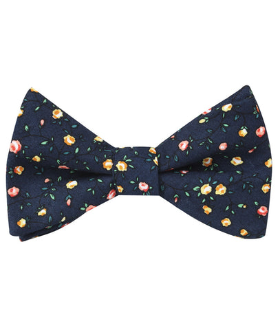 Paris Floral Self Bow Tie