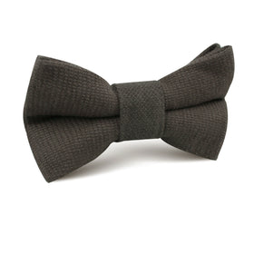 Paros Charcoal Linen Kids Bow Tie