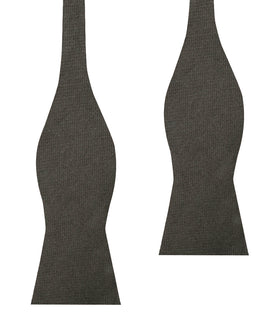 Paros Charcoal Linen Self Bow Tie