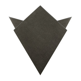 Paros Charcoal Linen Pocket Square