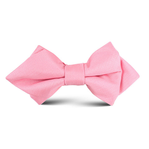 Pastel Pink Kids Diamond Bow Tie