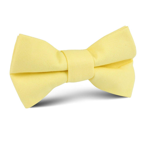 Pastel Yellow Cotton Kids Bow Tie