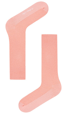 Peach Ribbed Socks