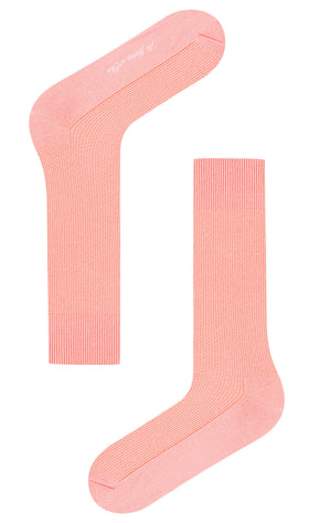 Peach Textured Socks