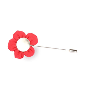 Americain Red Lapel Pin Front Boutonniere
