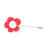 Americain Red Lapel Pin Back Boutonniere