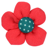 Americain Red Lapel Pin Close Boutonniere