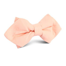 Peach Cotton Diamond Bow Tie