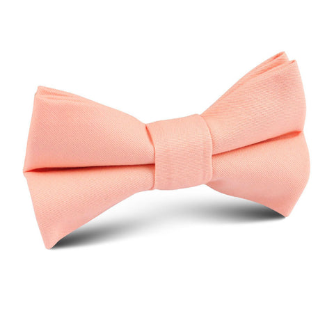 Peach Cotton Kids Bow Tie