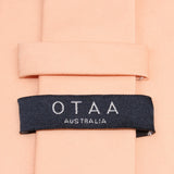 Peach Cotton Necktie OTAA Australia