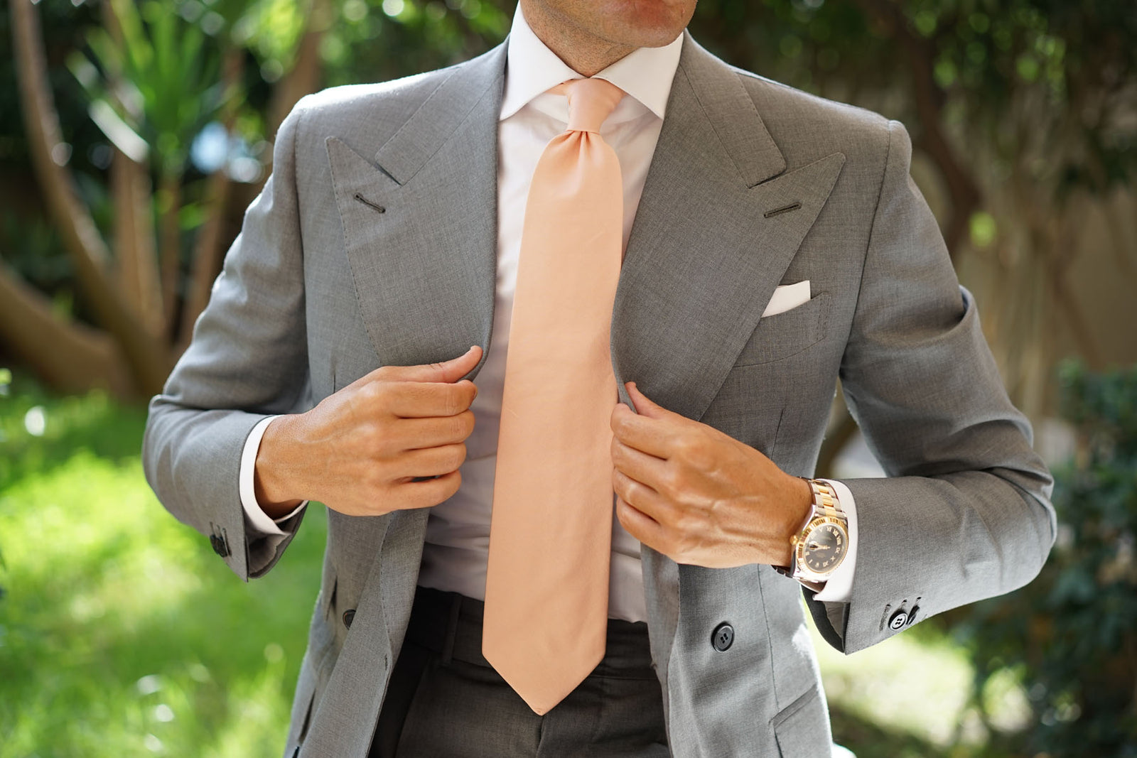 Peach Cotton Necktie