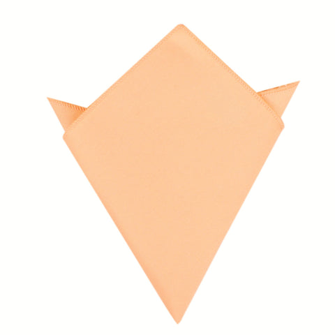 Peach Cotton Pocket Square