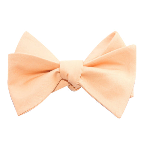 Peach Cotton Self Tie Bow Tie