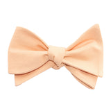 Peach Cotton Self Tie Bow Tie 3
