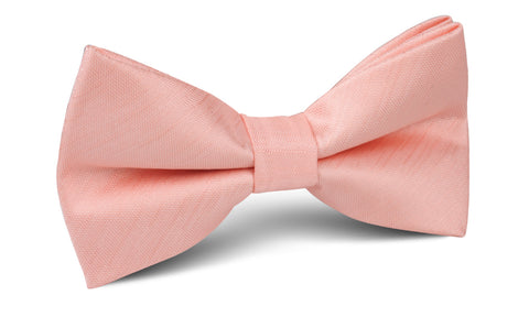 Peach Grain Bow Tie