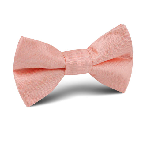 Peach Grain Kids Bow Tie