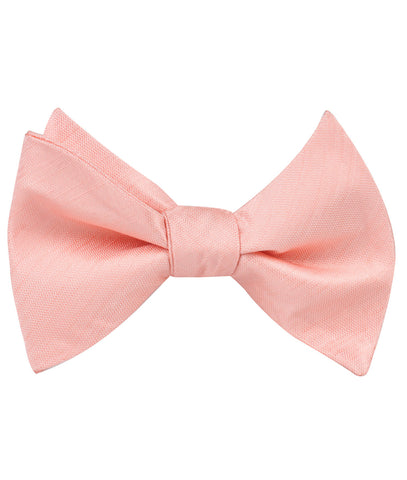 Peach Grain Self Bow Tie
