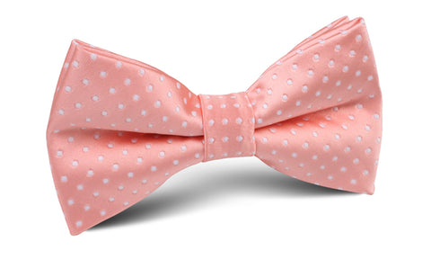 Peach Mini Polka Dots Bow Tie