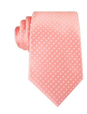 Peach Mini Polka Dots Necktie
