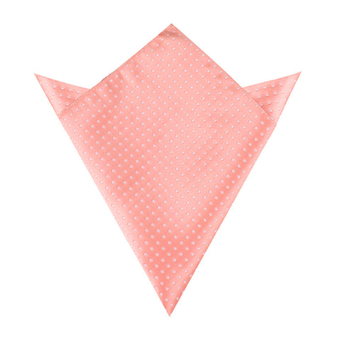 Peach Mini Polka Dots Pocket Square