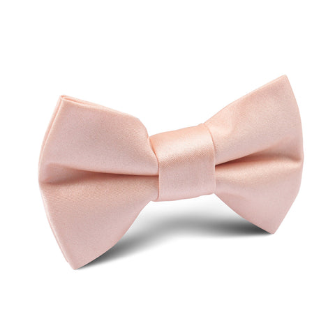 Peach Satin Kids Bow Tie