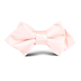 Peach Satin Kids Diamond Bow Tie