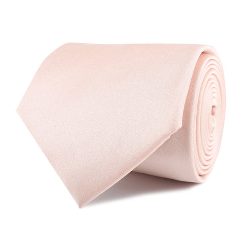 Peach Satin Necktie