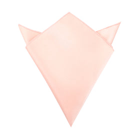 Peach Satin Pocket Square