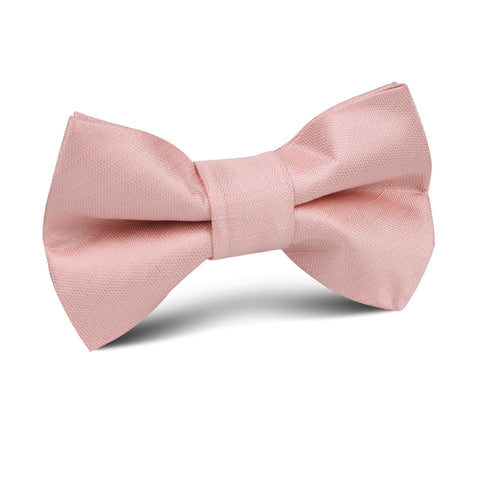 Peach Slub Kids Bow Tie
