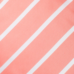 Peach Striped Bow Tie