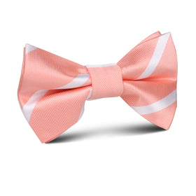 Peach Striped Kids Bow Tie