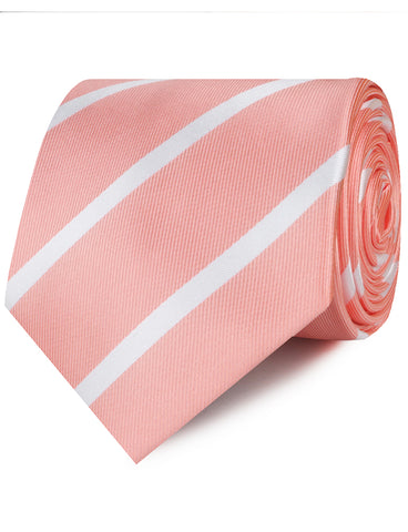 Peach Striped Necktie