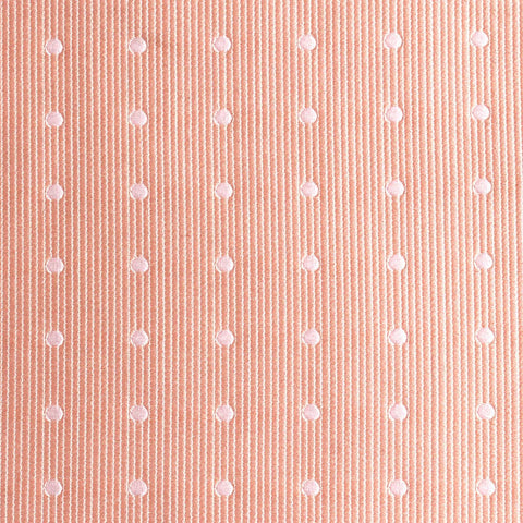 Peach with White Polka Dots Bow Tie