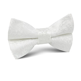 Pearl White Paris Floral Kids Bow Tie