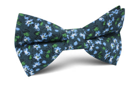 Periwinkle Floral Bow Tie