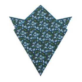 Periwinkle Floral Pocket Square