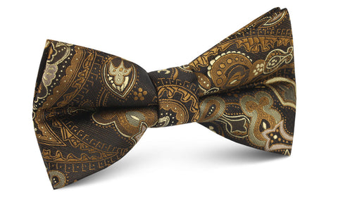 Persian Paisley Brown Bow Tie
