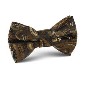 Persian Paisley Brown Kids Bow Tie