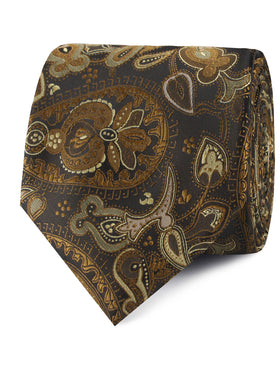 Persian Paisley Brown Tie